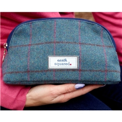 Earth Squared Heritage Make Up Bag - Blue