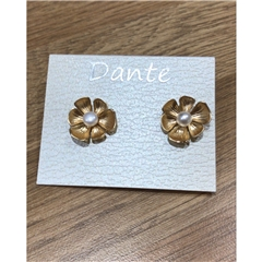 Dante Flower Earrings - Gold Tones