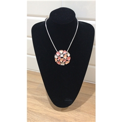 Dante Coral Circle Necklace