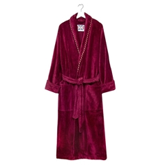 Bown Mens Earl Dressing Gown - Claret