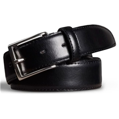 Meyer Handmade Leather Dress Belt - Black