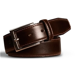 Meyer Handmade Leather Dress Belt - Brown