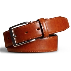Meyer Handmade Leather Dress Belt - Tan