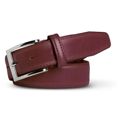 Meyer Handmade Leather Dress Belt - Bordeaux