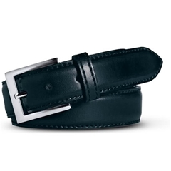Meyer Handmade Leather Dress Belt - Navy