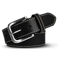 Meyer Handmade Leather Jeans Belt - Black