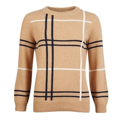 New 2020 Barbour Findhorn Sweater - Camel