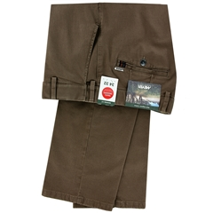 New Autumn Meyer Cotton Trouser - Mushroom - Oslo 5552 44