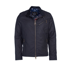 Barbour International Placer Wax Jacket - Navy