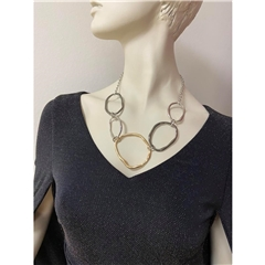 Dante Circular Necklace - Mixed Metals