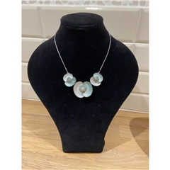 Dante Three Flowers Necklace - Turquoise