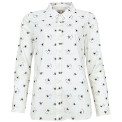 Spring 2021 Barbour Safari Bee Print Shirt - White