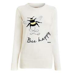 Spring 2021 Barbour Bee Happy Jumper - Off White