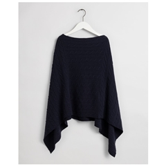 Gant Lambswool Poncho - Evening Blue