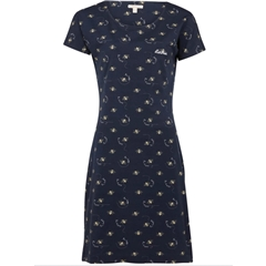 Spring 2021 Barbour Harewood Bees Print Dress - Navy