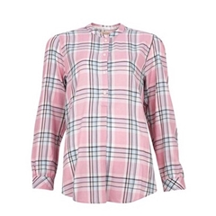 Spring 2021 Barbour Stonebarrow Check Blouse - Pink