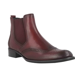 Gabor Brogue Ankle Boot - Merlot
