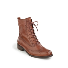 Gabor Budapester Lace Up Boots - Chestnut