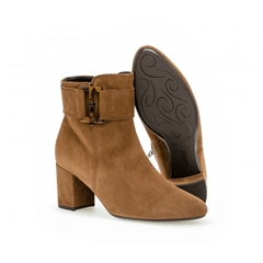 Gabor Heeled Ankle Boot - Chestnut