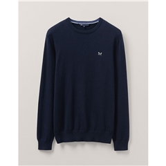 Crew Men's Foxley Crew Neck Jumper - Navy
