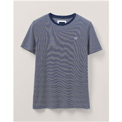 Crew Men's Fine Stripe T-Shirt - Navy White