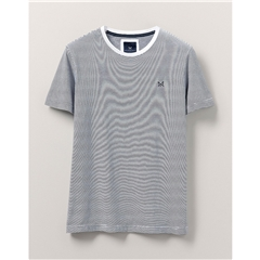 Crew Men's Fine Stripe T-Shirt - White/Navy