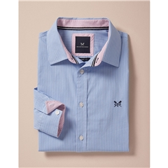 Crew Men's Long Sleeve Classic Stripe Shirt - Blue