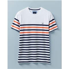 Crew Men's Wandle Stripe T-shirt - White/Navy