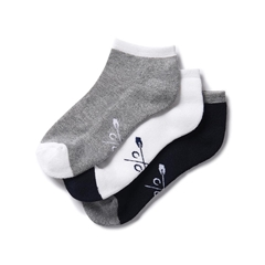 Crew Men's 3 Pack Bamboo Trainer Sock - Navy/White/Grey