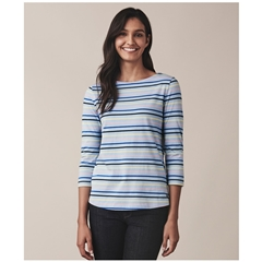 Crew Women's Essential Breton T-Shirt - Blue Multi