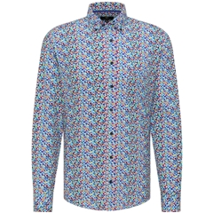 New 2021 Fynch Hatton Supersoft Cotton Shirt - Colourful Bubbles