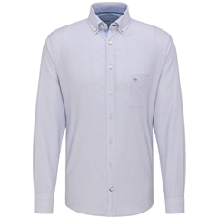 New 2021 Fynch Hatton Supersoft Cotton Dobby Shirt - Squares