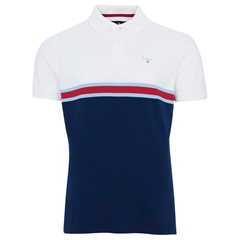Spring Barbour 2021 Men's Block Colour Polo - White