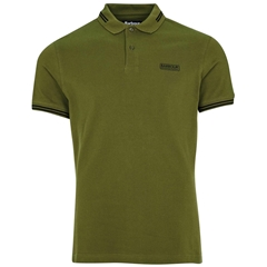 Barbour 2021 Men's International Essential Tipped polo - Vintage Green