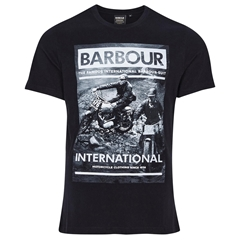 Barbour 2021 Men's International Archive Downforce Tee - Black