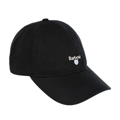 New 2021 Barbour Cotton Sports Cap - Black