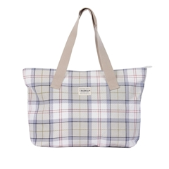 Spring Barbour 2021 Printed Shopper Bag - Mist Tartan