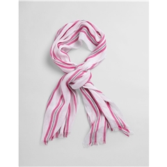 Gant Womens Striped Cotton Linen Scarf - Cabaret Pink