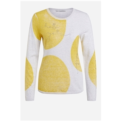 Oui Pullover With Dots - Yellow