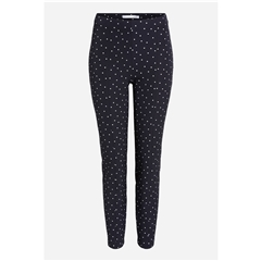Oui Polka Dot Leggings - Black