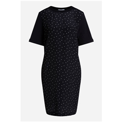 Oui Polka Dot T-shirt Dress - Black