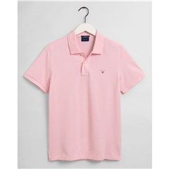 New 2021 Gant Contrast Original Pique Polo Shirt -  California Pink