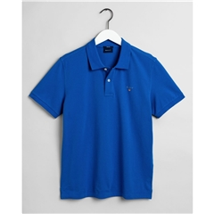 New 2021 Gant Contrast Original Pique Polo Shirt -  Nautical Blue