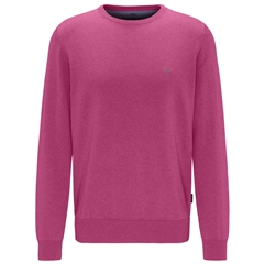 New 2021 Fynch Hatton Superfine 3 Ply Cotton Crew Neck Sweater - Malaga