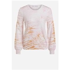 Oui Puff Sleeve Sweater - Rose White