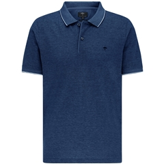 New 2021 Fynch Hatton 2 Tone Cotton Polo Shirt - Midnight Blue