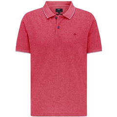 New 2021 Fynch Hatton 2 Tone Cotton Polo Shirt - Hibiscus