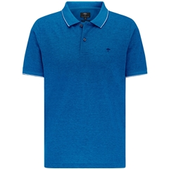 New 2021 Fynch Hatton 2 Tone Cotton Polo Shirt - Royal Blue