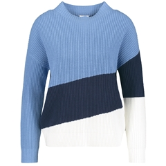 Gerry Weber Colour Block Jumper - Blue