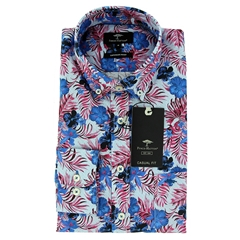 New 2021 Fynch Hatton Superior Print Cotton Shirt - Thistle Big Flower